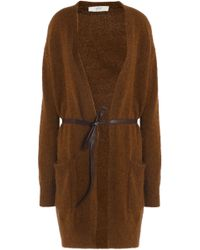 Vanessa Bruno Athé - Helora Belted Knitted Cardigan - Lyst