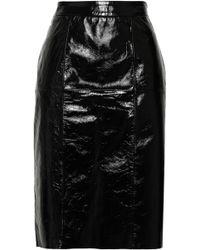 8e85100e28 W118 by Walter Baker - Molli Crinkled Patent-leather Skirt Black - Lyst