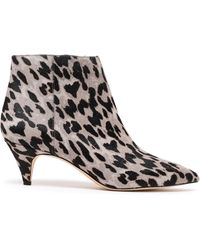 cbfd2060bc8c Sam Edelman - Kinzey Leopard-print Calf Hair Ankle Boots Animal Print - Lyst
