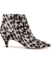 7167feb2c836 Sam Edelman - Woman Kinzey Leopard-print Calf Hair Ankle Boots Animal Print  - Lyst