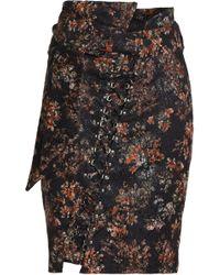 IRO - Lace-up Metallic Jacquard Skirt - Lyst