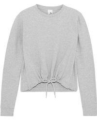 Iris & Ink - Woman Mélange French Cotton-blend Terry Sweatshirt Light Gray - Lyst