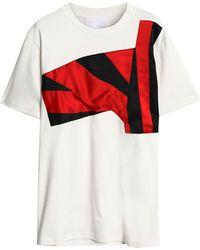 Koche - Satin-trimmed Cotton-jersey T-shirt - Lyst