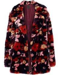 Anna Sui - Printed Faux Fur Jacket - Lyst
