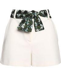 Maje - Belted Crepe Shorts - Lyst