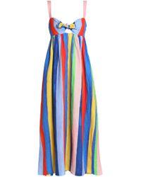 Mara Hoffman - Bow-detailed Cutout Striped Linen Maxi Dress - Lyst