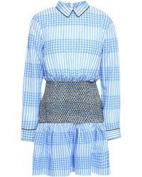 bd556c5e Ganni Charron Ruffle-trimmed Tartan Cotton-blend Cloqué Maxi Dress - Lyst