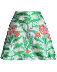 Reem Acra - Floral-print Jacquard Mini Skirt - Lyst