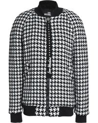 Love Moschino - Houndstooth Tweed Bomber Jacket - Lyst