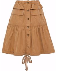 RED Valentino - Gathered Taffeta Skirt - Lyst