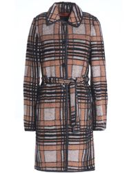 Missoni - Belted Checked Bouclé-knit Coat - Lyst