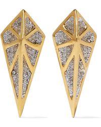 Noir Jewelry - Hidden Gold-tone Crystal Earrings - Lyst