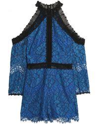 Alexis - Cold-shoulder Corded Lace Playsuit - Lyst