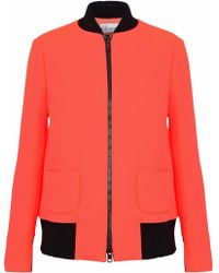 8cf0b7b10d11f2 ... RED Valentino - Neon Cady Bomber Jacket - Lyst clearance sale d3545  f7f77  Asos Cropped ...