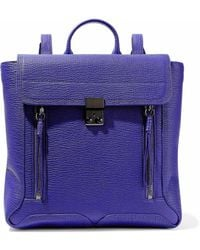 3.1 Phillip Lim - Pashli Textured-leather Backpack - Lyst