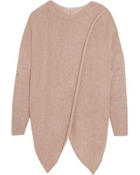Stella McCartney - Draped Stretch-knit Sweater - Lyst
