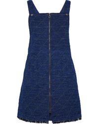 Sea - Quilted Cotton-blend Chambray Mini Dress - Lyst