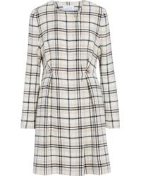 Carven - Embellished Checked Wool-blend Coat - Lyst