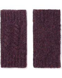 Autumn Cashmere - Fingerless Cable-knit Cashmere Gloves - Lyst