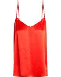 Equipment - Woman Silk-satin Camisole Bright Orange Size Xs - Lyst
