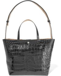 Elizabeth and James - Eloise Croc-effect Leather Tote - Lyst