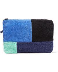 Lisa Marie Fernandez - Color-block Paneled Cotton-terry Pouch - Lyst
