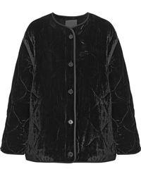 Sandro - Jacky Quilted Velvet Jacket - Lyst