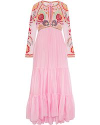 Temperley London | Chimera Embroidered Tulle And Silk-blend Maxi Dress | Lyst