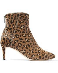 d6143a35411a Jimmy Choo - Woman Duke Leopard-print Calf Hair Ankle Boots Animal Print -  Lyst