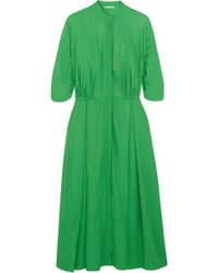 Emilia Wickstead - Moya Twill Midi Dress - Lyst