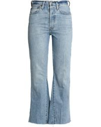 RE/DONE - Leandra Mid-rise Cropped Bootcut Jeans - Lyst