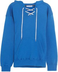Koza - Surfy Surfy Appliquéd Cotton-blend Jersey Hooded Top - Lyst