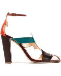 Camilla Elphick - Pcv-paneled Color-block Leather Sandals - Lyst