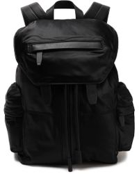 Alexander Wang - Leather-trimmed Satin-twill Backpack - Lyst