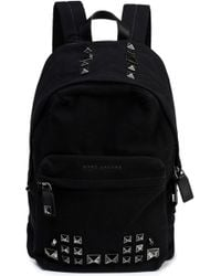 Marc Jacobs - Studded Leather-trimmed Canvas Backpack - Lyst