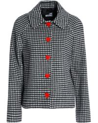 Love Moschino - Embellished Gingham Wool-blend Jacket - Lyst