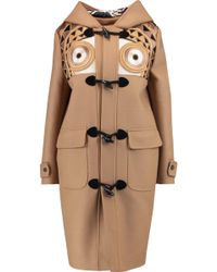 Stella Jean - Montgomery Embroidered Brushed Wool-blend Hooded Coat - Lyst