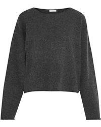 Chloé - Chloé Woman Oversized Cashmere Sweater Dark Gray - Lyst