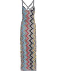 Missoni - Woman Metallic Pointelle-knit Maxi Dress Silver - Lyst