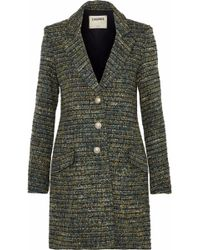 L'Agence - Bouvier Classic Tweed Coat - Lyst