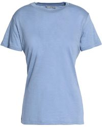 Vince - Slub Pima Cotton-jersey T-shirt Light Blue - Lyst