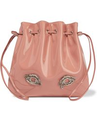 Rochas - Tilda Medium Embellished Patent-leather Shoulder Bag - Lyst