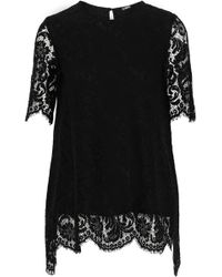Adam Lippes - Cotton-blend Corded Lace Top - Lyst