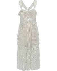 Marissa Webb - Kenzie Ruffled Flocked Tulle Midi Dress - Lyst