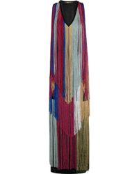 Roberto Cavalli - Fringed Knitted Gown - Lyst