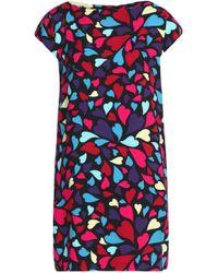 Love Moschino - Printed Faille Mini Dress - Lyst