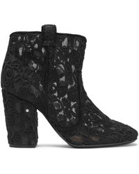 Laurence Dacade - Woman Pete Embroidered Mesh Ankle Boots Black Size 39 - Lyst