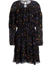 Rebecca Minkoff - Tiered Floral-print Chiffon Mini Dress - Lyst