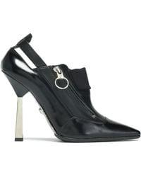 Versace - Cutout Leather Pumps - Lyst