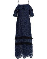 Rachel Zoe - Cold-shoulder Guipure Lace Midi Dress - Lyst